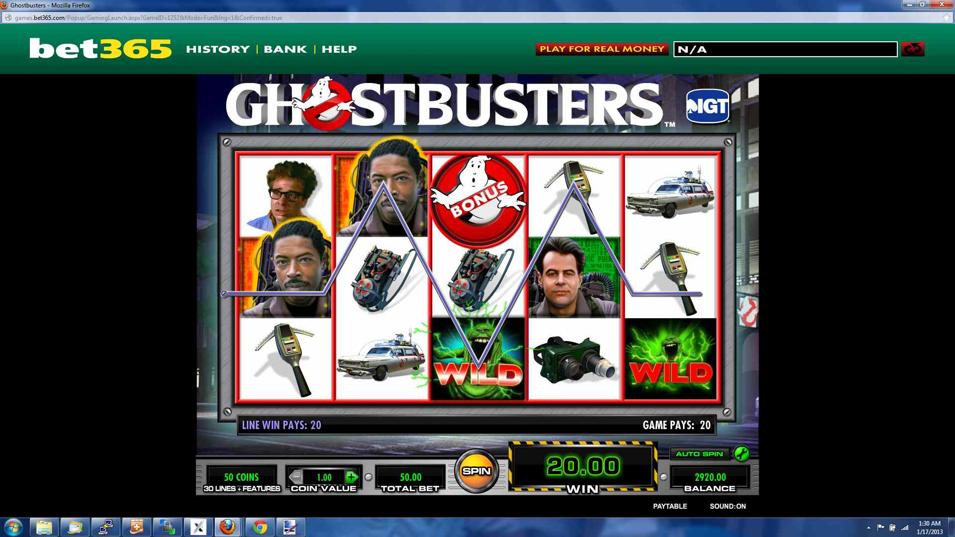 play ghostbusters slot machine free